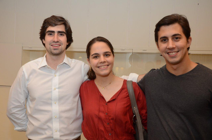 Antonio Braga com Luisa e Augusto Paulin