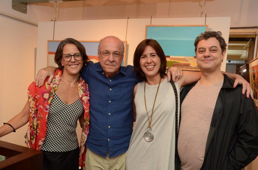 Laura, Evandro e Silvia Carneiro e Sidne