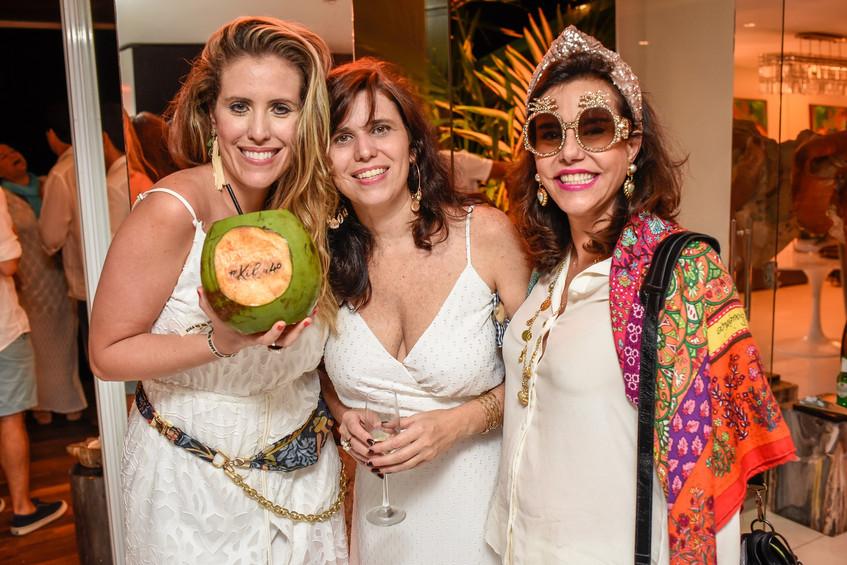 Bruna Barros, Patricia Carneiro e  Narci