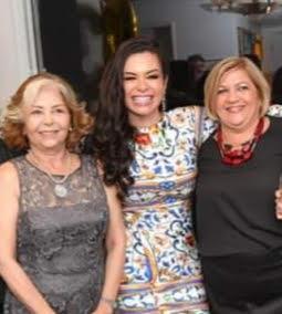 Bruna Castro com a mãe Francis Alves e a