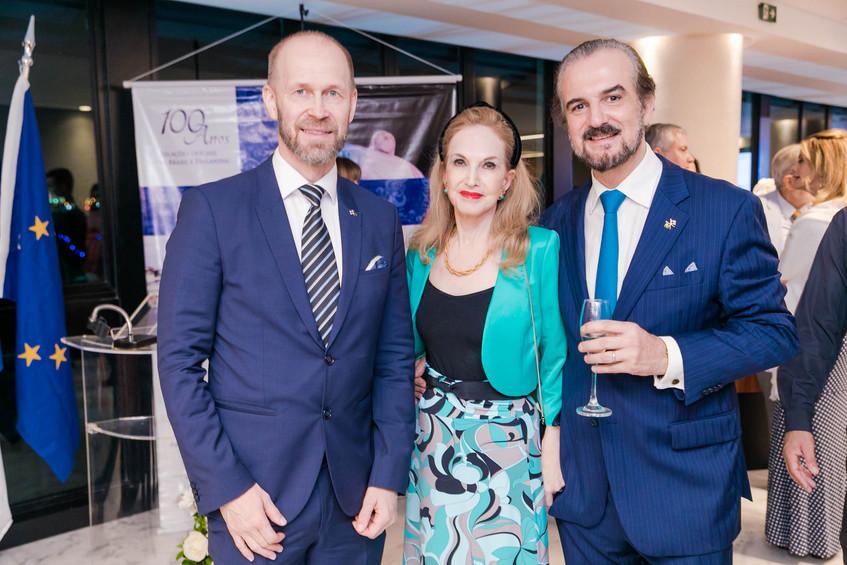 Jouko Leinonen, Diana Macedo-Soares e S