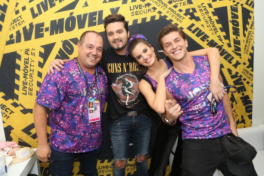 Michel Diamant, Luan Santana, Camila Que