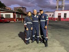Aline Ramos de Sousa(Enfermeira), Enzo Rivera e  Alexandre Lamin (Motorista)