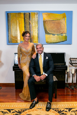 O casal Enzo e Adriana de Rivera