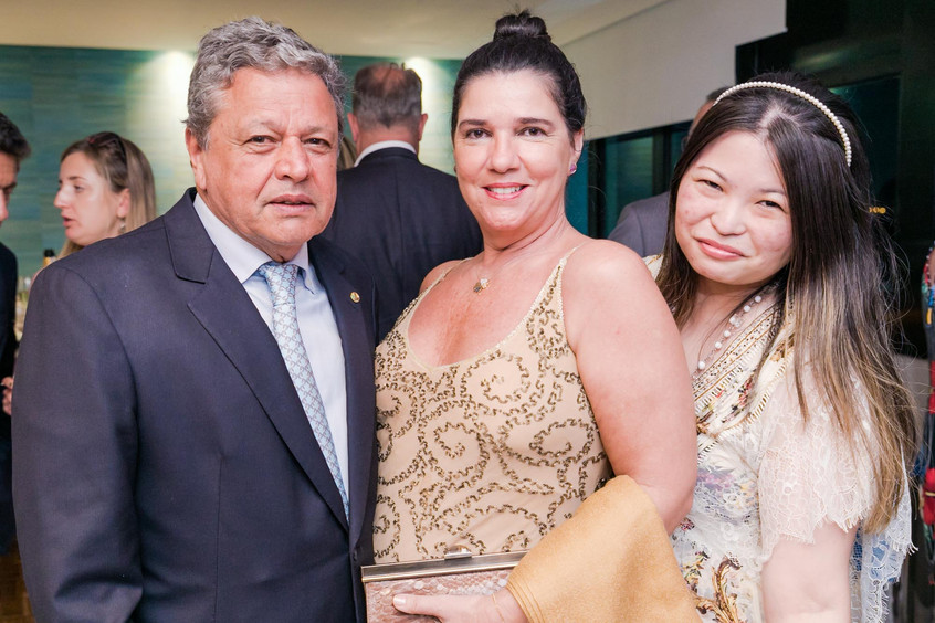 Aloysio e Maria Teixeira e Daniela Dondo