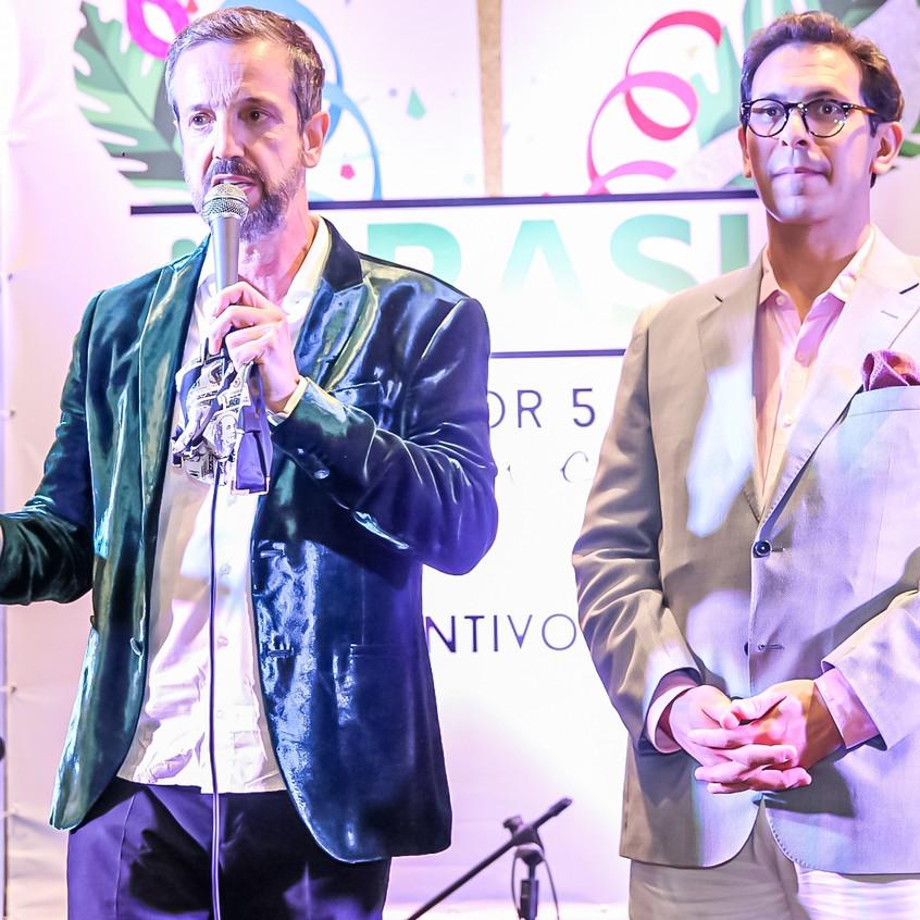 Alexis e Netto Moreira, diretor do Fairm