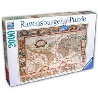 Puzzle 2000 pz. Mappamondo del 1650