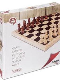 Scacchi+scacchiera legno re mm. 65