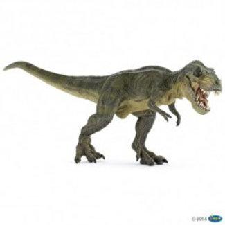 T-Rex verde che apre la bocca