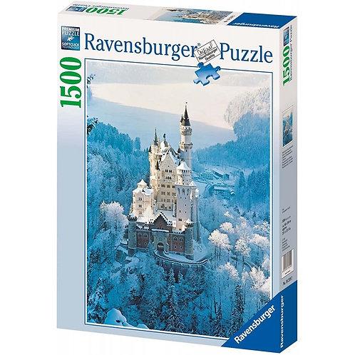 Puzzle 1500 pz. - Neuschwanstein d'inverno
