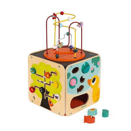 Cubo multiattività in legno