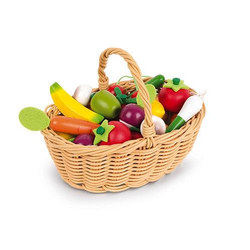 Cestino 24 pezzi frutta e verdura