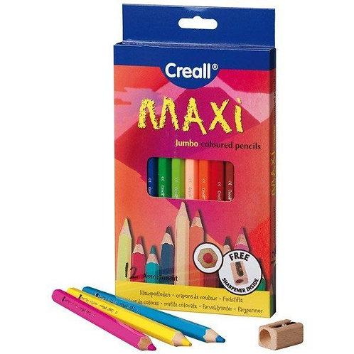 Creall Maxi 12 matite laccate