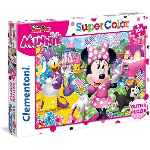 Puzzle 104 pz. glitter - Minni e le aiutamiche