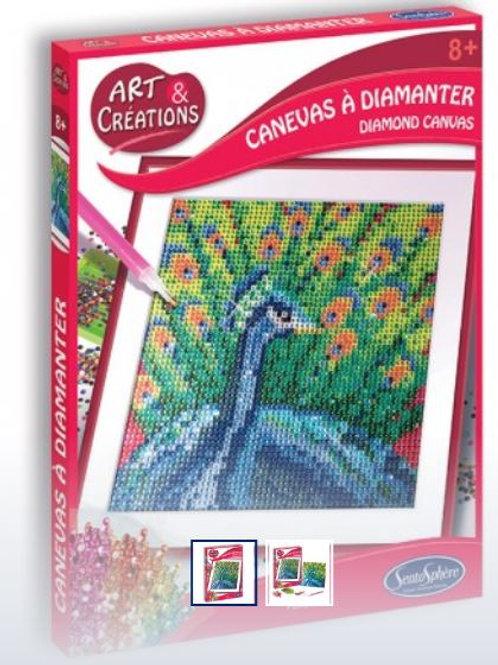 Art & Creation - Pittura con diamanti - Pavone