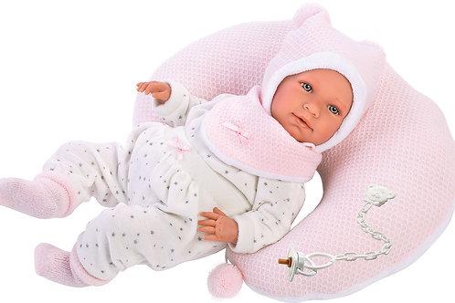Bambola New Born cm. 40 Lala con cuscino