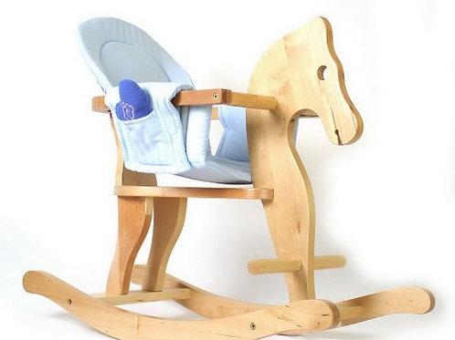 Cavallo a dondolo con rivestimento del sedile
