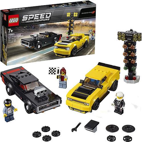 Lego Speed - 2018 Dodge Challenger SRT Demon e 1970 Dodge Charger R/T