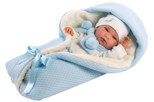 Bambola New Born - cm. 40 Nico c/copertina azzurra