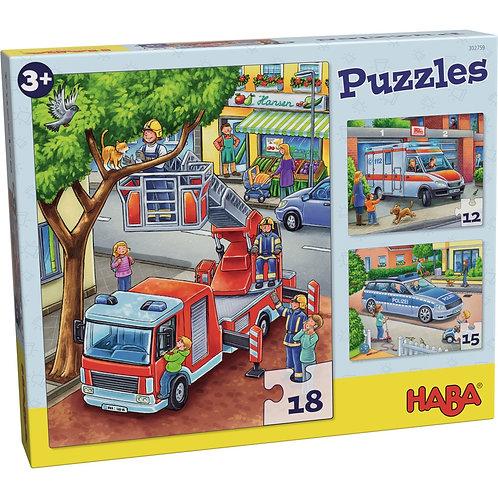 12, 15 18 pz. Haba - Polizia, pompieri e compagnia