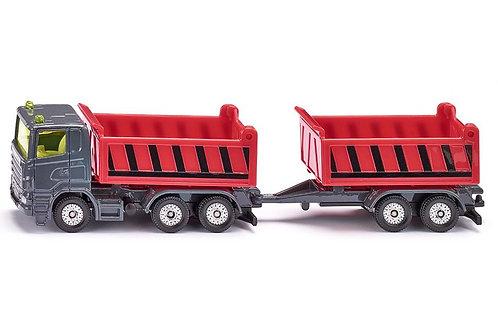 Camion con cassone e rimorchio ribaltabili