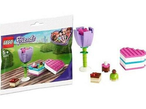 Lego Friends - Scatola di cioccolatini e fiore
