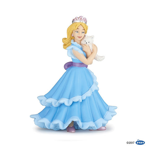 Principessa blu con gatto