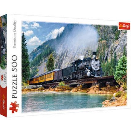 Puzzle 500 pz. - Treno in montagna