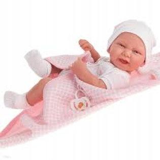 Bambola New Born Carla toquilla cm. 42