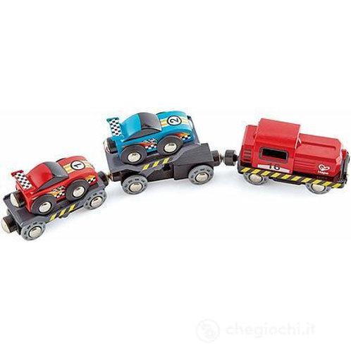 Treno traspoto auto da corsa