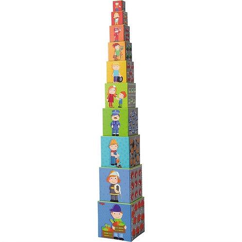 Piramide di cartone 10 pz. città