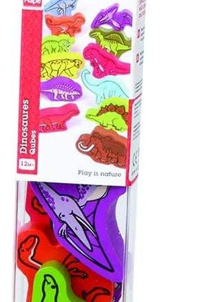 Tubo animali di legno - Dinosauri ruggenti