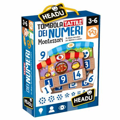 Tombola tattile dei numeri Montessori