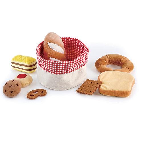 Cesto di stoffa con il pane