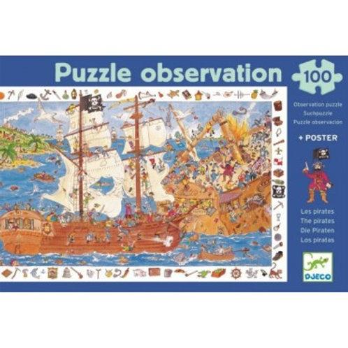100  pezzi Djeco I pirati