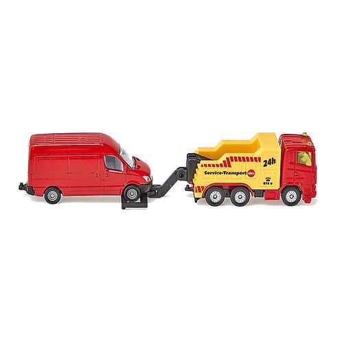 Carro attrezzi con furgone