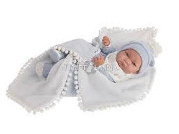 Bambola New Born Nico vinile cm. 40