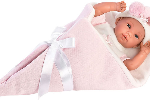 Bambola New Born Stoffa cm. 36 Ice Doll rosa