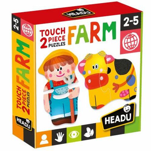 Puzzle 2 pz. tattili Touch Farm