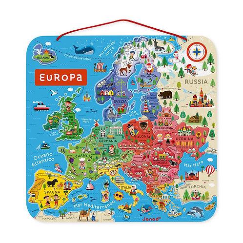 Cartina magnetica dell'Europa