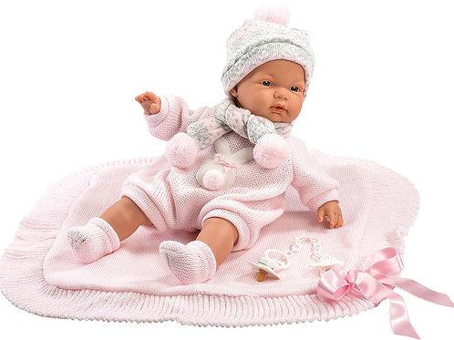 Bambola New Born Stoffa cm. 38 Joelle c/copertina -  misura E