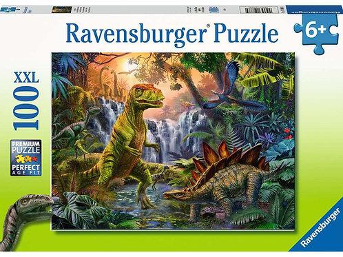 Puzzle 100 pz. XXL - L'oasi dei dinosauri