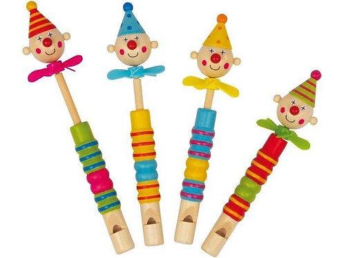 Mini flauto di legno Clown con elica