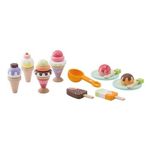 Set gelato di legno