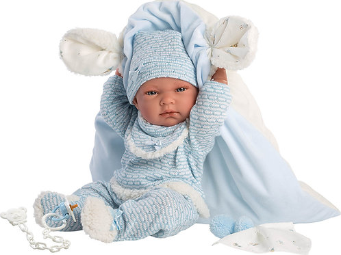 Bambola New Born cm. 40 Nico + cuscino