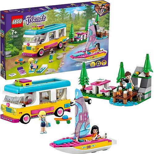 Lego Friends - Camper nel bosco con barca a vela