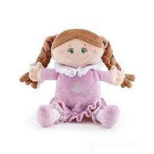 Bambola di pezza mora abito malva