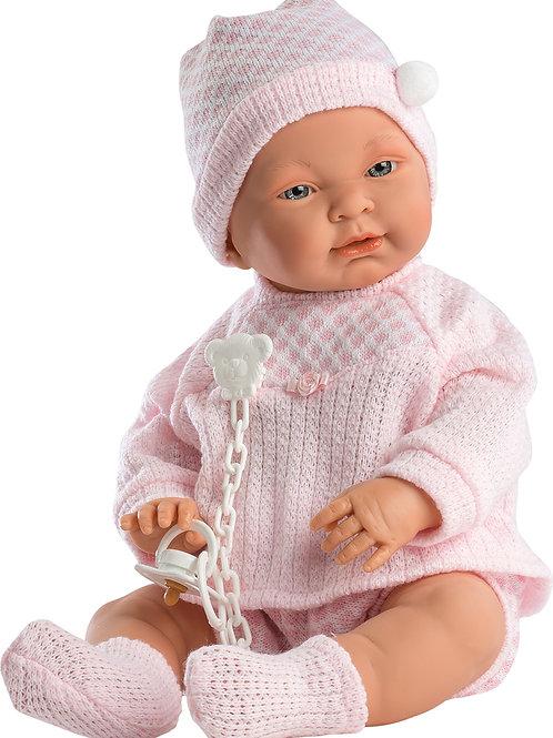 Bambola New Born Vinile cm. 45 Nena rosa