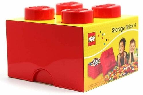 Lego Contenitore per mattoncini rosso 25x25 cm.