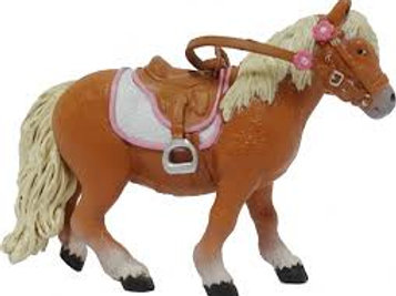 Pony Shetland con sella